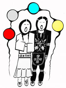 Anishinaabe wedding pentekening door trouwringen-smid en kunstenaar Zhaawano