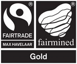 Faitrade en fairmined goud logo