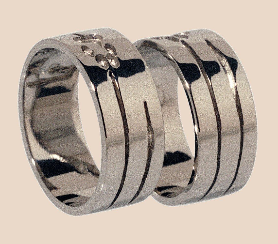 Witgouden trouwringen   14 en 18 karaats   unieke ringen