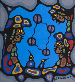 Norval Morrisseau Circle Of Four