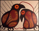 Miskwaabik Animikii untitled birds acrylic