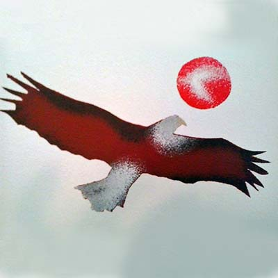 Simone McLeod eagle canvas