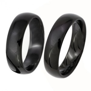 'Black Wedding Ring' zwart zirkoon trouwringen